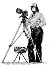 Kleurplaat fotograaf