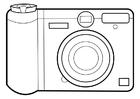 Kleurplaat fototoestel