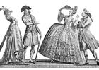 Kleurplaat franse mode 18e eeuw