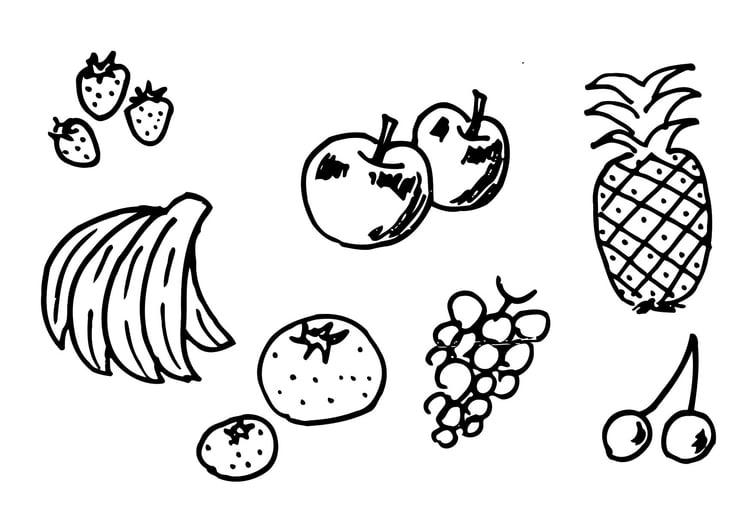 Kleurplaten Van Fruit.Kleurplaat Fruit Afb 12300