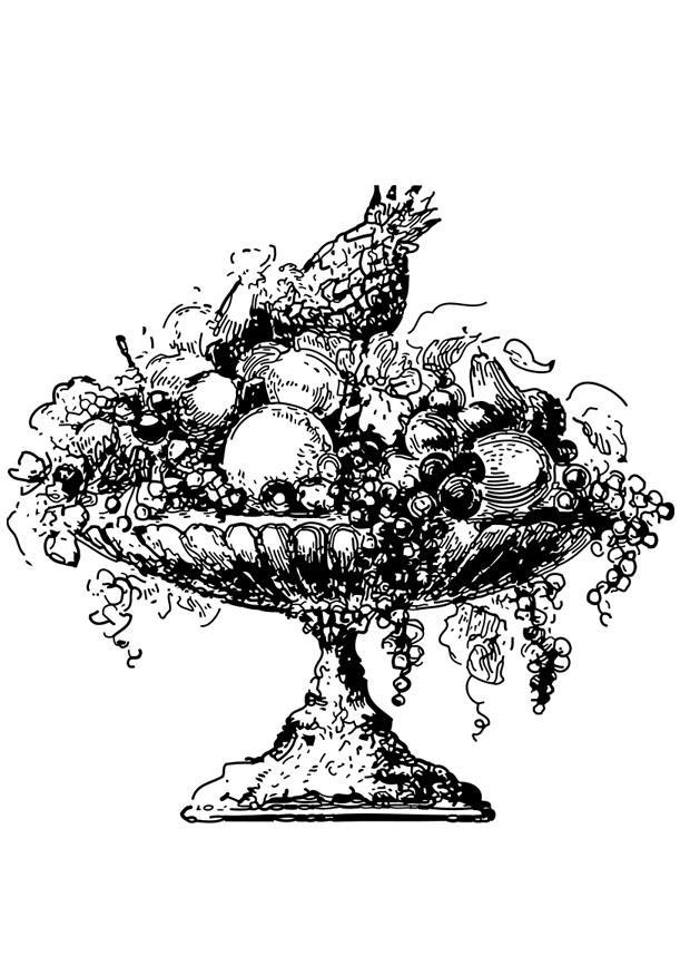 Kleurplaat Fruitschaal Afb 27328 Images