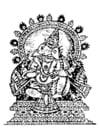 Kleurplaat Ganesha