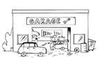 Kleurplaat garage