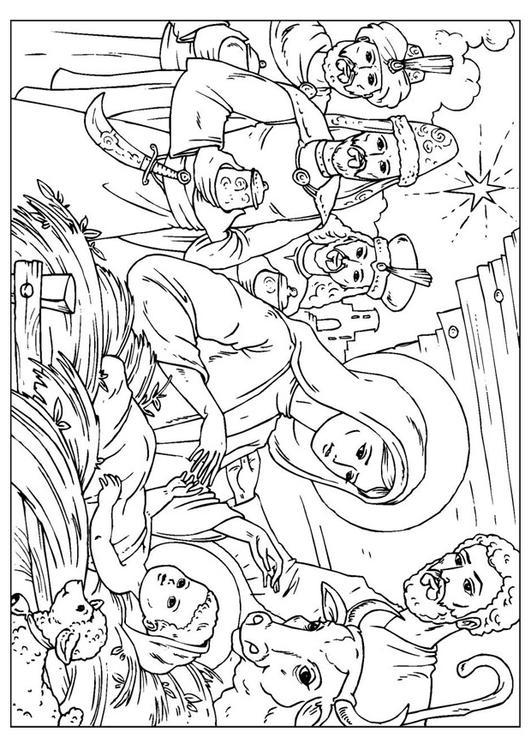 Kleurplaat Geboorte Van Christus Afb 26008