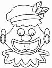 Kleurplaat gekke Piet gezicht (2)