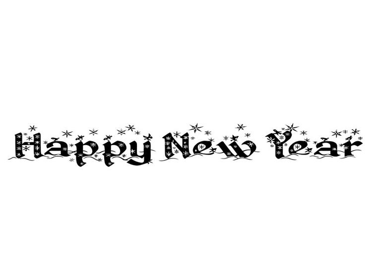 Kleurplaten Gelukkig Nieuwjaar.Kleurplaat Gelukkig Nieuwjaar Afb 20238