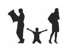 Kleurplaat gescheiden ouders
