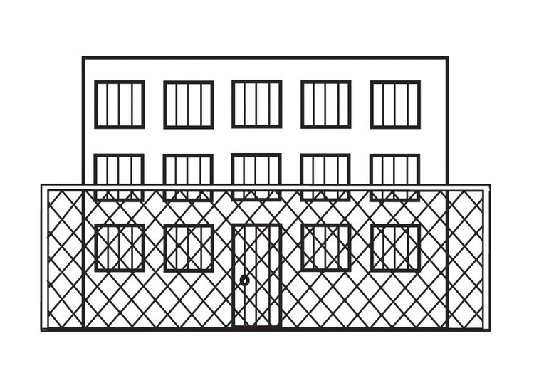 Kleurplaat Gevangenis Afb 23126