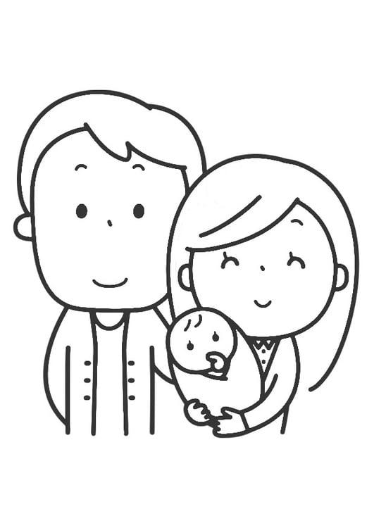 kleurplaat gezin gratis kleurplaten om te printen