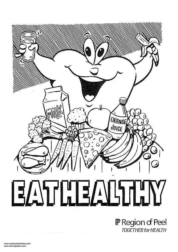 Kleurplaat Gezonde Voeding Afb 2975