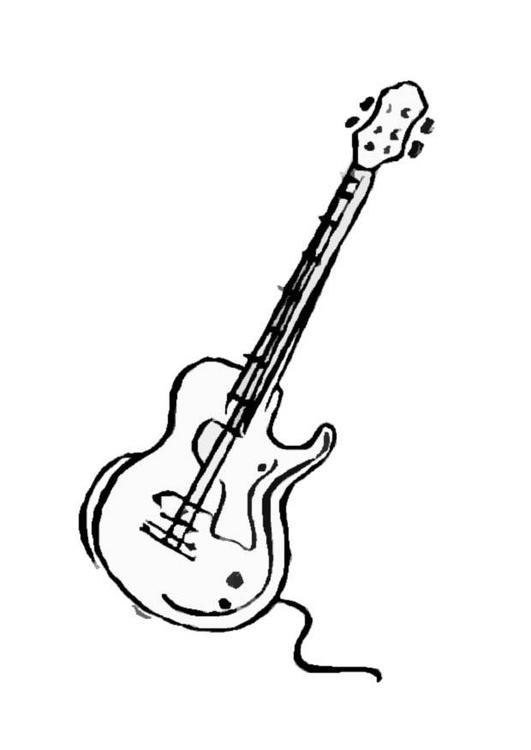 kleurplaat gitaar gratis kleurplaten om te printen