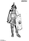 Kleurplaat gladiator