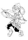 Kleurplaat Gnome - gnoom