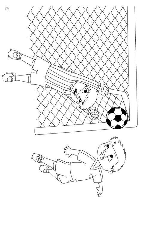 Kleurplaat Fifa Kleurplaat Goal Afb 26142