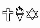 Kleurplaat godsdienst - zedenleer