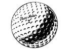 Kleurplaat golfbal