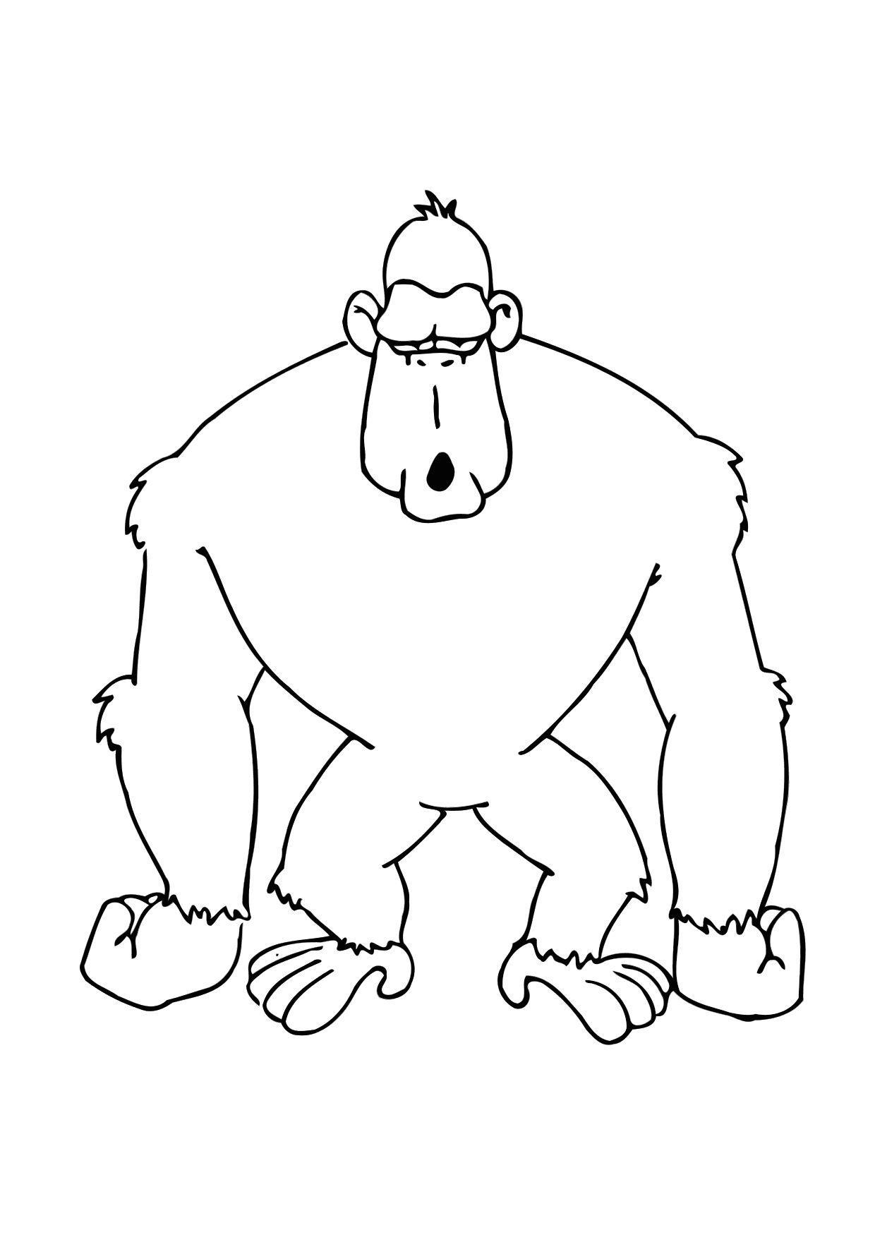 Kleurplaat Gorilla Gratis Kleurplaten Om Te Printen