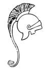 Kleurplaat Griekse helm