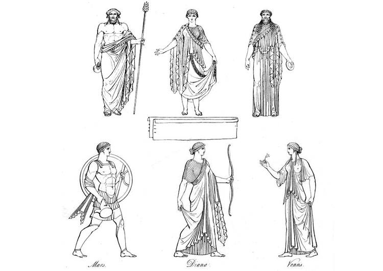Kleurplaat New York Kleurplaat Griekse Priesters En Goden Afb 9429