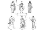 Kleurplaat Griekse priesters en goden