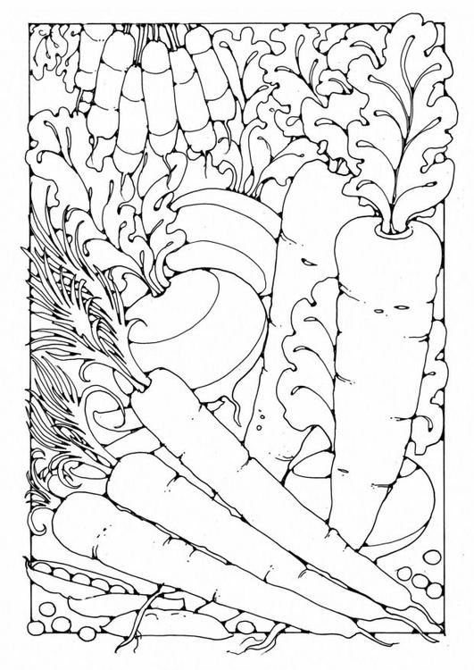 Kleurplaten Fruit En Groente.Kleurplaat Groenten Afb 19600