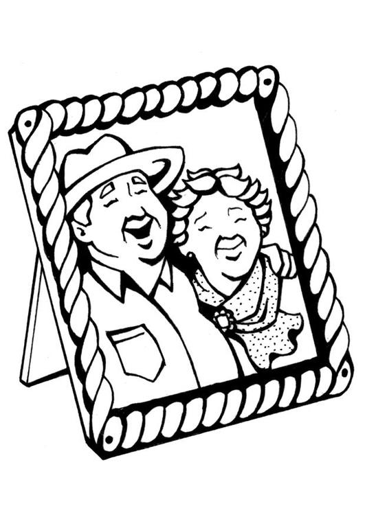 kleurplaat grootouders afb 7091