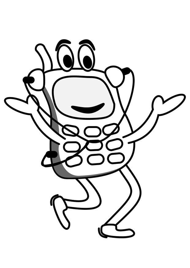 Kleurplaat Mobiele Telefoon Kleurplaat Gsm Afb 19794
