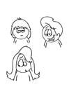 Kleurplaat haarstijlen