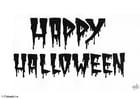 Kleurplaat halloween - happy halloween