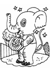 Kleurplaat Halloween olifant
