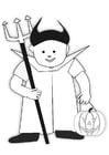 Kleurplaat Halloweenpak