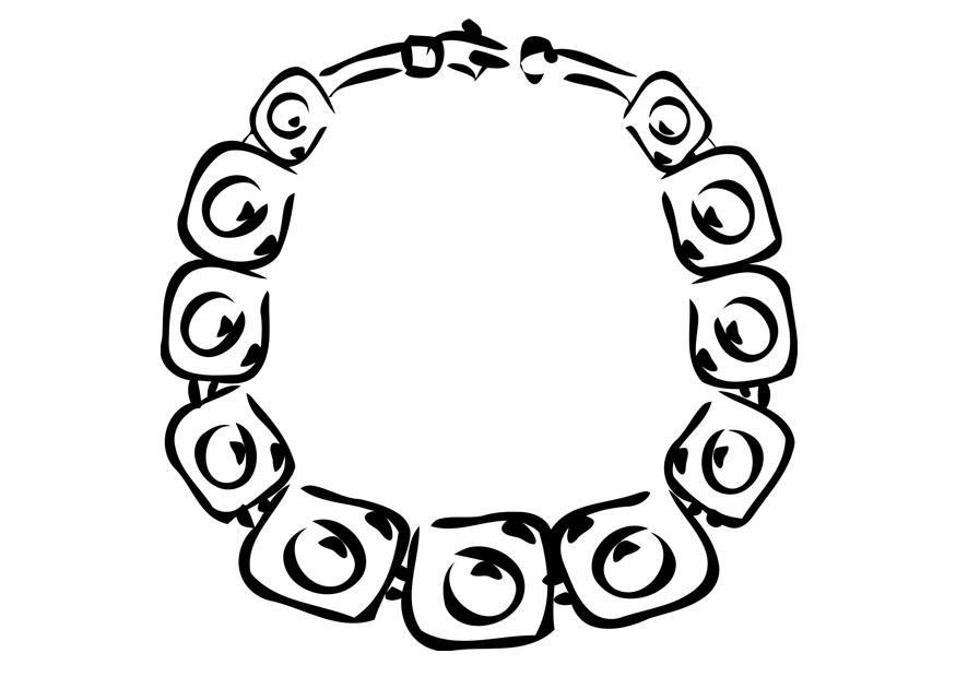 kleurplaat halsketting afb 19356