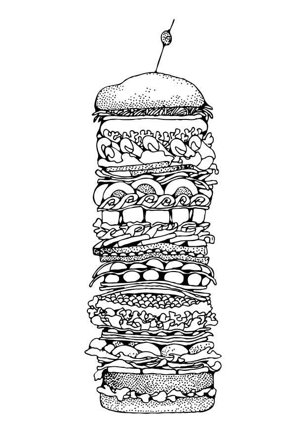 kleurplaat hamburger gratis kleurplaten om te printen