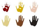 Kleurplaat handafdrukken
