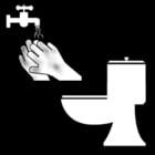 Kleurplaat handen wassen na toilet