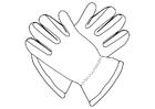 Kleurplaat handschoenen