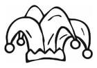 Kleurplaat harlekijn muts