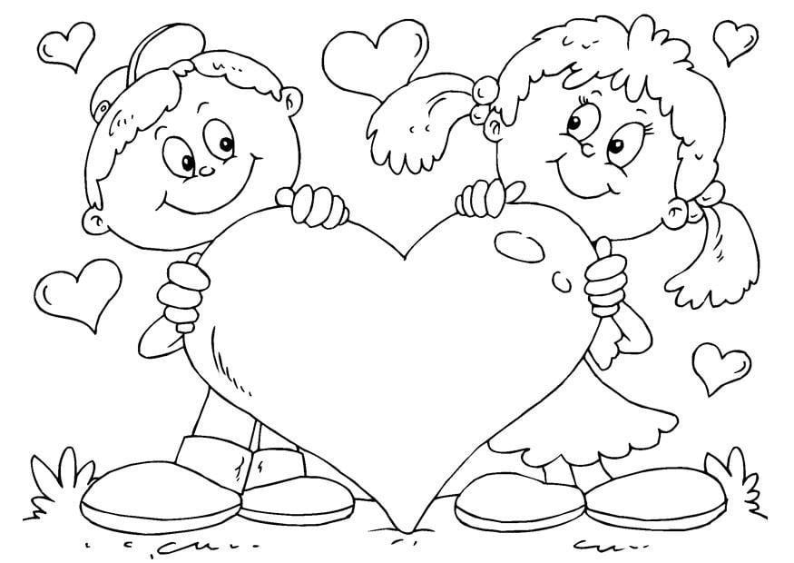 Kleurplaten Hartjes Valentijn.Kleurplaat Hart Valentijn Afb 24610