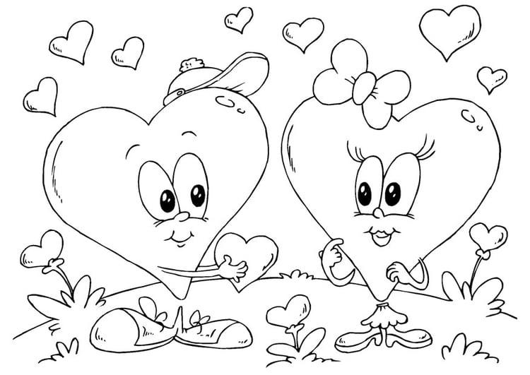 Kleurplaten Van Valentijn.Kleurplaat Hartjes Valentijn Afb 24612