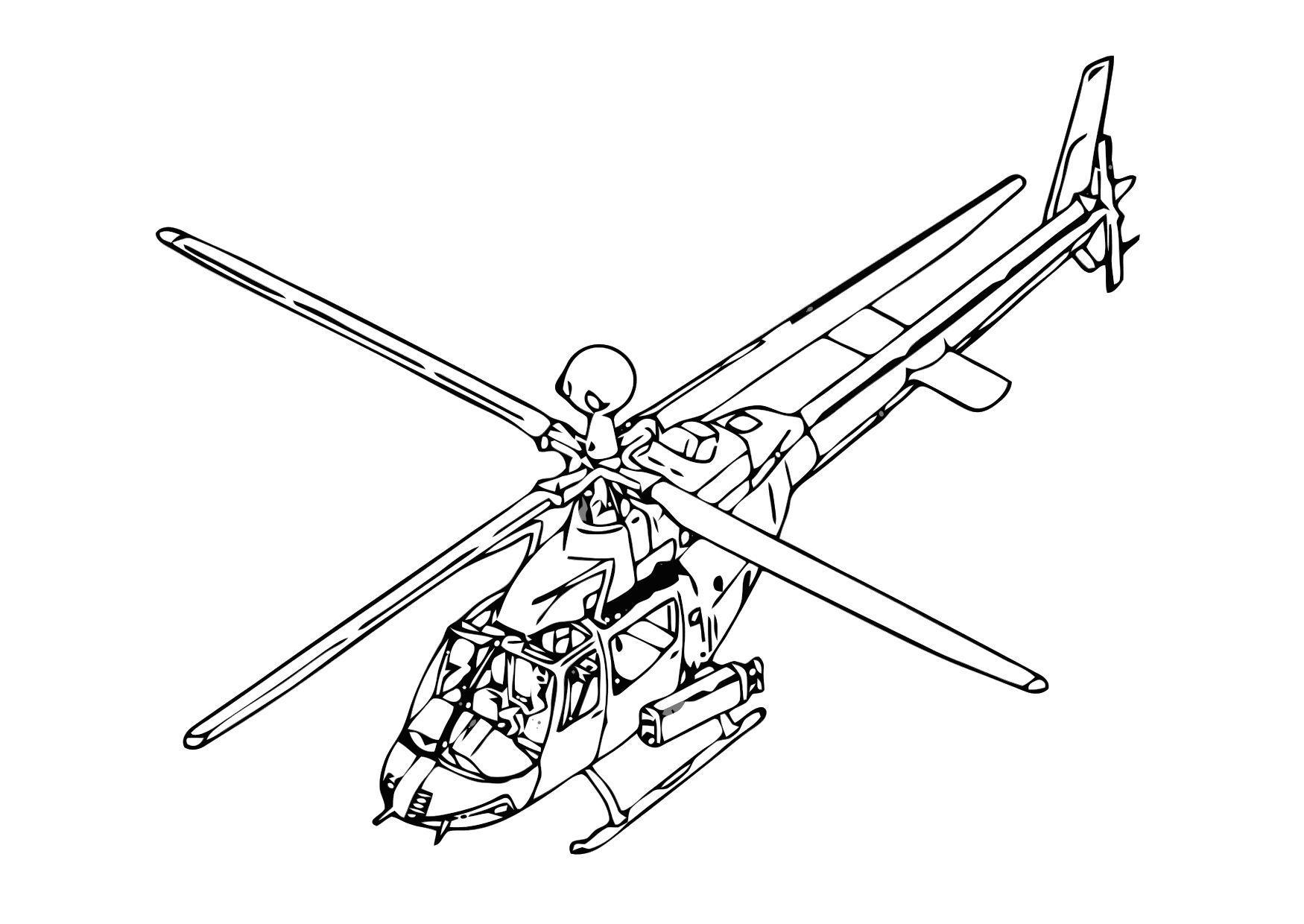kleurplaat helicopter gratis kleurplaten om te printen