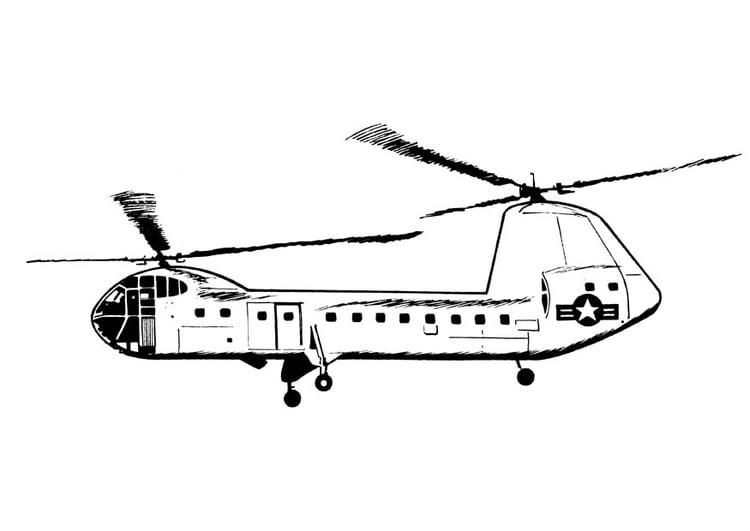 Kleurplaat Helikopter Afb 18901