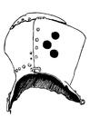 Kleurplaat helm ridder