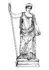 Kleurplaat Hera