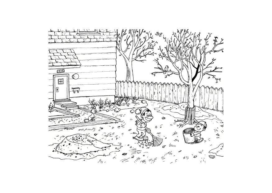 Kleurplaat Herfst Afb 9600