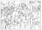 Kleurplaat het verraad van Judas