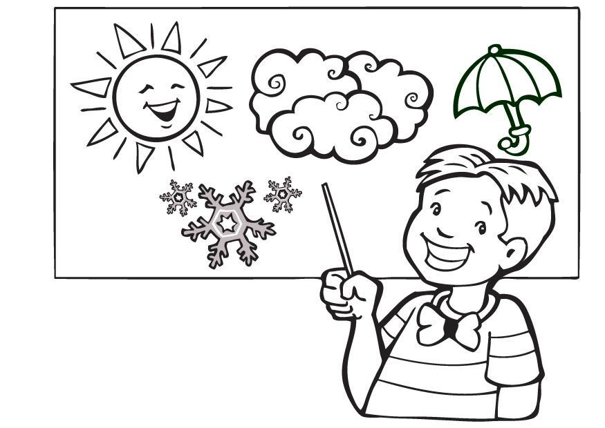 weather man coloring pages - photo#2