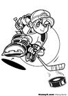 Kleurplaat hockey