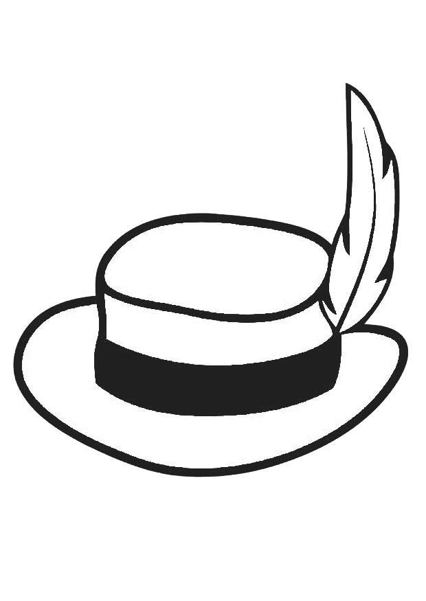 kleurplaat hoed met pluim gratis kleurplaten om te printen
