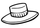 Kleurplaat hoed