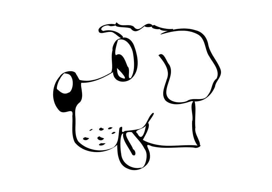 Kleurplaat Hond
